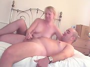 Sexy Mature Lady in Pantyhose Gives Handjob Amateur Homemade Movie