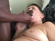 Cum Crazy Granny loves being fed hot delicious cum from a Black Cock