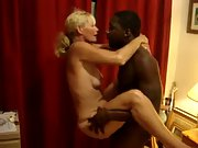 Busty wifey riding a black stud in her first cuckold experience